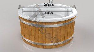 Wellness_Royal_3D_(1) Badefass gfk Thermoholz mit integriertem Ofen Wellness Royal